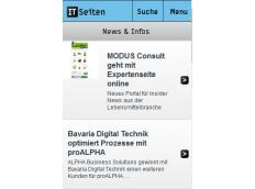 Mobil unterwegs mit dem Online-Verzeichnis ITSeiten